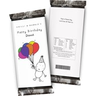 Personalised Chilli And Bubbles Birthday Chocolate Bar