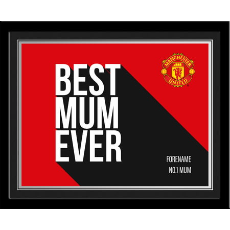 Personalised Manchester United Best Mum Ever 10x8 Photo Framed