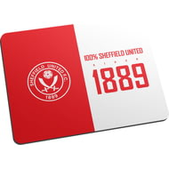 Personalised Sheffield United FC 100 Percent Mouse Mat