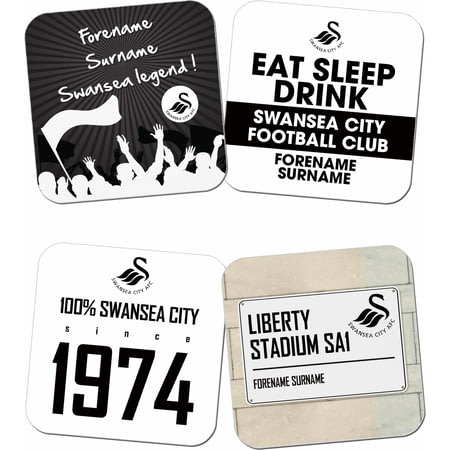 Personalised Swansea City AFC Coasters