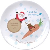 Personalised Christmas Treats For Santa Mince Pie Ceramic Plate