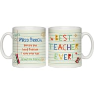Personalised Best Teacher Ever Ceramic Mug