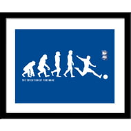 Personalised Birmingham City Evolution Framed Print