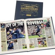 Personalised Blackburn Football Newspaper Book - A3 Leather Cover