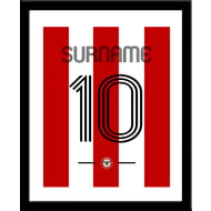 Personalised Brentford Retro Shirt Framed Print