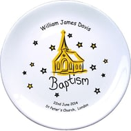 "Personalised Church Baptism 8"" Bone China Coupe Plate"