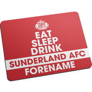 Personalised Sunderland AFC Eat Sleep Drink Mouse Mat