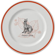 Personalised Watership Down 10 Rimmed Ceramic Plate- Big Wig""