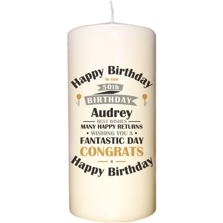 Birthday Celebration Pillar Candle