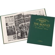 Personalised Beatles Newspaper History Book