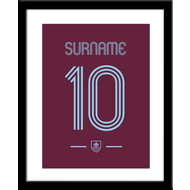 Personalised Burnley FC Retro Shirt Framed Print