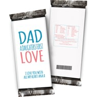Personalised Daughters First Love Chocolate Bar White