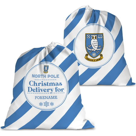 Personalised Sheffield Wednesday FC Christmas Delivery Santa Sack