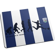 Personalised West Bromwich Albion FC Evolution Mouse Mat