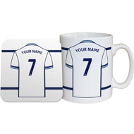 Personalised West Bromwich Albion FC Shirt Mug & Coaster Set