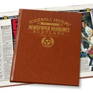 Personalised Scotland Football Newspaper Book - Leatherette Cover
