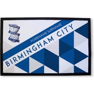 Personalised Birmingham City FC Patterned Rubber Backed Door Mat