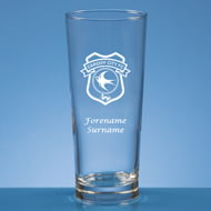 Personalised Cardiff City FC Crest Beer Pint Glass