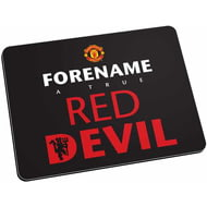 Personalised Manchester United FC Red Devil Mouse Mat (Black)