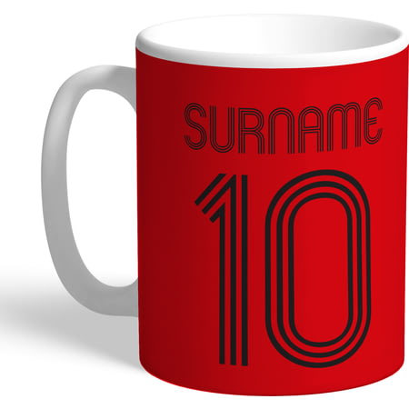 Personalised Manchester United Retro Shirt Mug