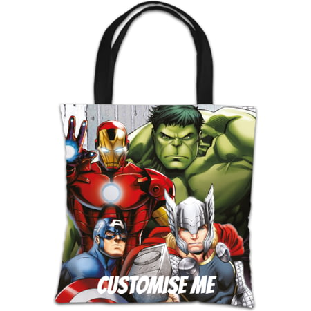 Personalised Marvel Avengers Assemble Group Scene Tote Bag