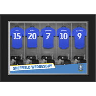 Personalised Sheffield Wednesday FC 9x6 Dressing Room Shirts Photo Folder