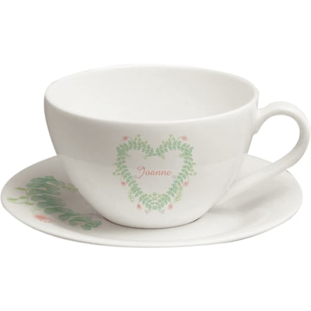 Personalised Spring Garden Tea Cup And Saucer