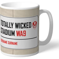 Personalised St Helens Totally Wicked Stadium Street Sign Mug