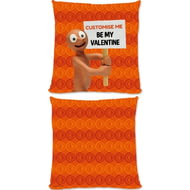 Personalised Morph 'Be My Valentine' Cushion - 45x45cm