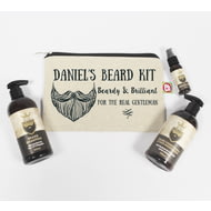 Personalised Beardy & Brilliant Beard Grooming Kit Gift Set