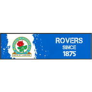 Personalised Blackburn Rovers Paint Splash Large Bar Runner