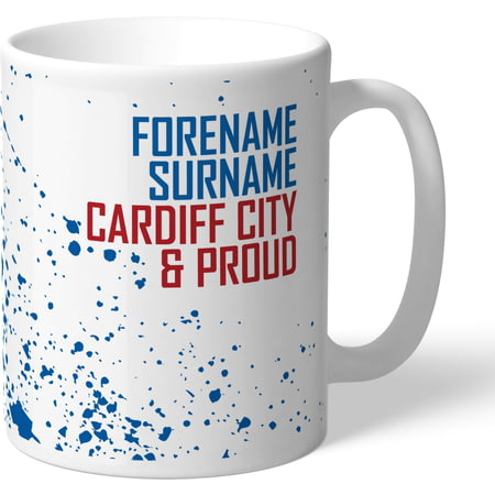 Personalised Cardiff City FC Proud Mug