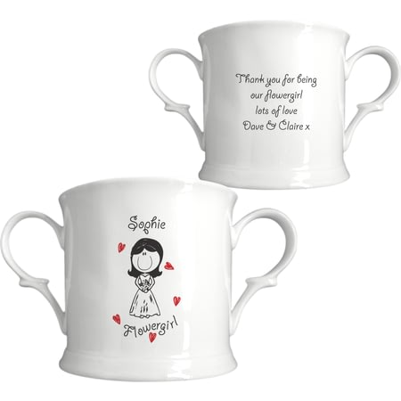 Personalised Graffiti Wedding Character Bone China Loving Cup