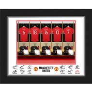 Personalised Manchester United FC Dressing Room Shirts Photo Folder