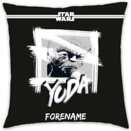 Personalised Star Wars Yoda Paint Cushion - 45x45cm