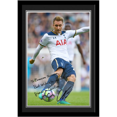 Personalised Tottenham Hotspur FC Eriksen Autograph Photo Framed