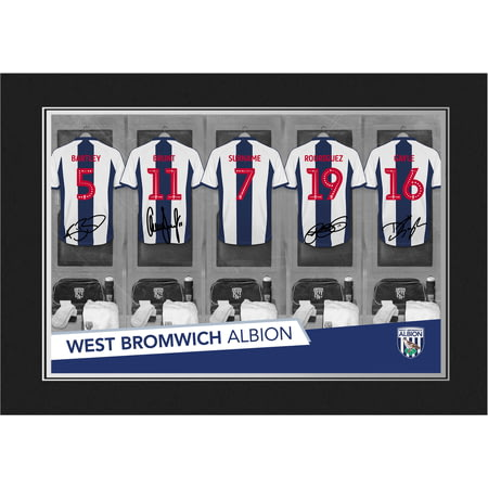 Personalised West Bromwich Albion FC 9x6 Dressing Room Shirts Photo Folder