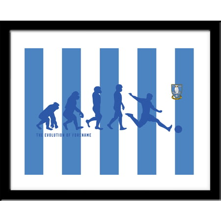 Personalised Sheffield Wednesday Evolution Framed Print