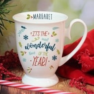 Personalised The Most Wonderful Time Of The Year Marquee Ceramic Mug