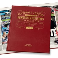 Personalised Rangers Football Newspaper Book - Leather Cover