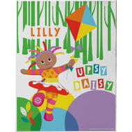 Personalised Upsy Daisy Kite Canvas Print