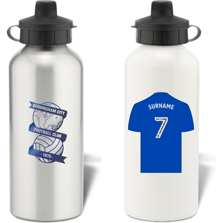 Personalised Birmingham City FC Shirt Aluminium Sports Water Bottle