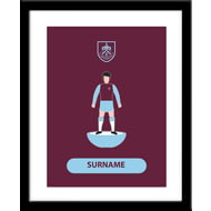 Personalised Burnley FC Player Figure Framed Print