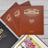 Personalised Chelsea Football Club Newspaper Book A4