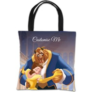 Personalised Disney Beauty And The Beast 'Ballroom' Tote Bag