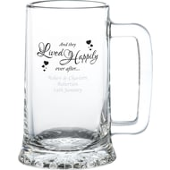 Personalised Happily Ever After Glass Stern Tankard