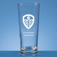 Personalised Leeds United FC Crest Beer Pint Glass