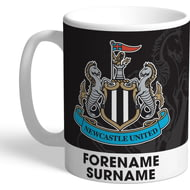 Personalised Newcastle United FC Bold Crest Mug