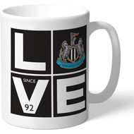 Personalised Newcastle United Love Mug