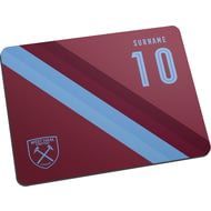 Personalised West Ham United FC Stripe Mouse Mat